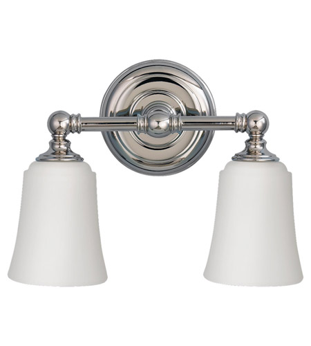 Feiss Huguenot Lake 2 Light Vanity Strip in Polished Nickel VS12602-PN photo