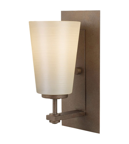 Feiss VS14901-CB Sunset Drive 1 Light 5 inch Corinthian Bronze Vanity Strip Wall Light in Pearl Glass photo