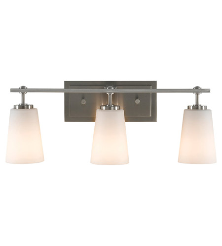Feiss Sunset Drive 3 Light Vanity Strip in Brushed Steel VS14903-BS photo