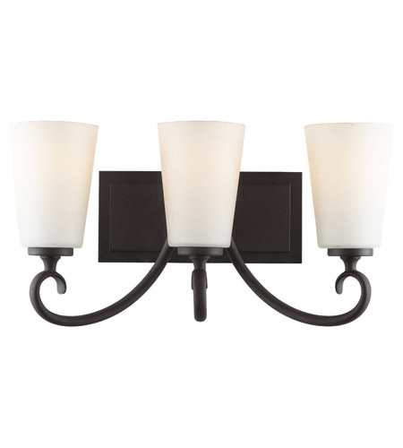 Feiss Peyton 3 Light Vanity Strip in Black VS16503-BK photo