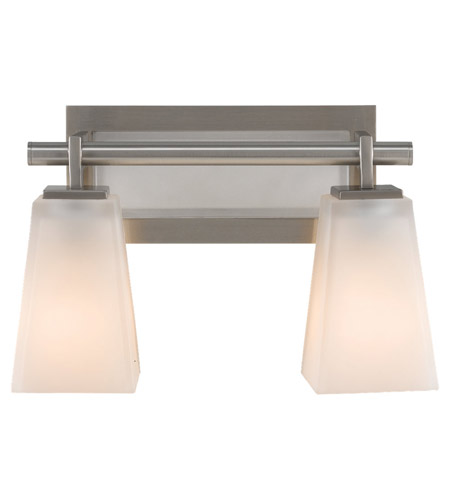 Feiss VS16602-BS Clayton 2 Light 13 inch Brushed Steel Vanity Strip Wall Light photo