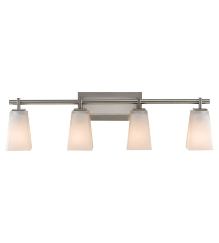 Feiss VS16604-BS Clayton 4 Light 32 inch Brushed Steel Vanity Strip Wall Light in 31.5 photo