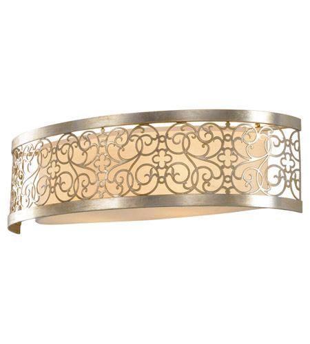 Feiss Arabesque 2 Light Vanity Strip in Silver Leaf Patina VS16702-SLP photo