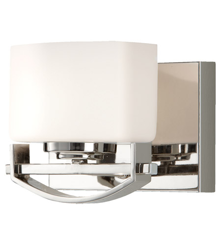 Feiss Bleeker Street 1 Light Vanity Strip in Polished Nickel VS18201-PN photo