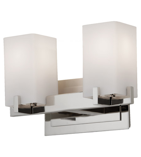 Feiss Steel Riva Bathroom Vanity Lights