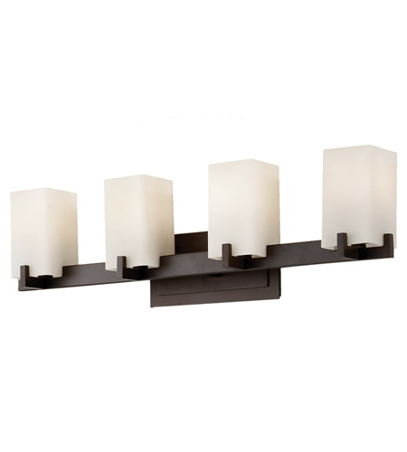 Feiss VS18404-ORB Riva 4 Light 30 inch Oil Rubbed Bronze Vanity Strip Wall Light in Cream Etched Glass photo