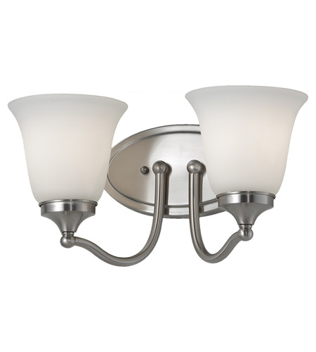 Feiss Beckett 2 Light Vanity Strip in Brushed Steel VS18502-BS photo