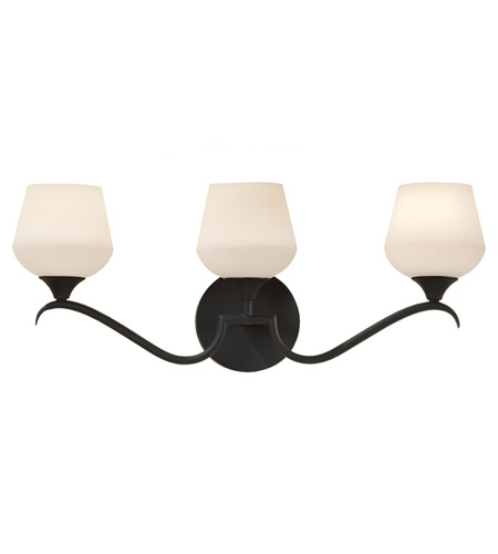 Feiss Merritt 3 Light Vanity Strip in Black VS18603-BK photo