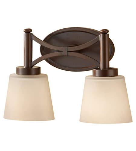 Feiss Nolan 2 Light Vanity Strip in Heritage Bronze VS18702-HTBZ photo