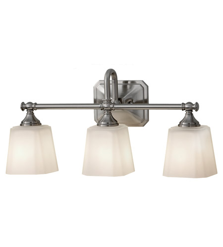 Glass and Steel Bathroom Vanity Lights