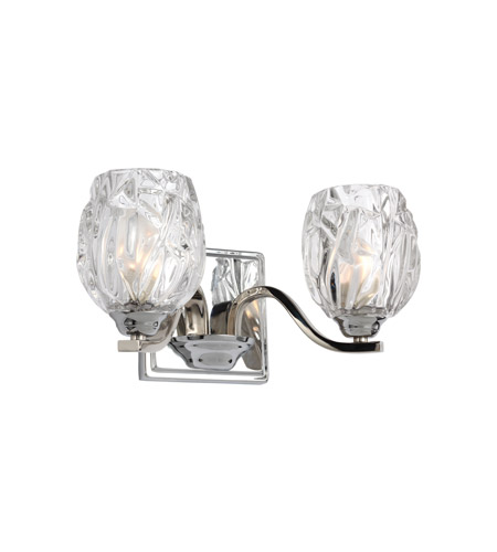 Feiss Steel Kalli Bathroom Vanity Lights