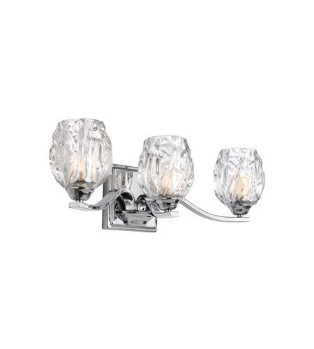 Murray Feiss Kalli: Feiss VS22703CH Kalli 3 Light 20 Inch Chrome Vanity Wall Light