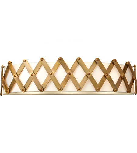 Feiss Hugo 3 Light Vanity Strip in Bali Brass VS35005-BLB photo