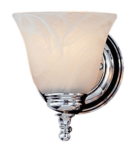Feiss VS6701-CH Bristol 1 Light 5 inch Chrome Vanity Strip Wall Light in White Alabaster Glass photo