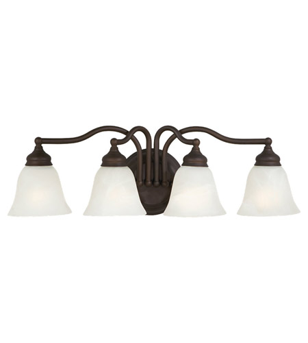 Feiss VS6704-ORB Bristol 4 Light 25 inch Oil Rubbed Bronze Vanity Strip Wall Light in White Alabaster Glass, 24.5 photo