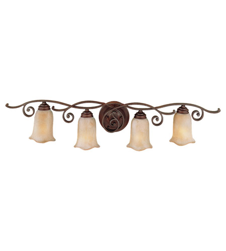 Feiss VS8104-CB Tuscan Villa 4 Light 38 inch Corinthian Bronze Vanity Strip Wall Light photo