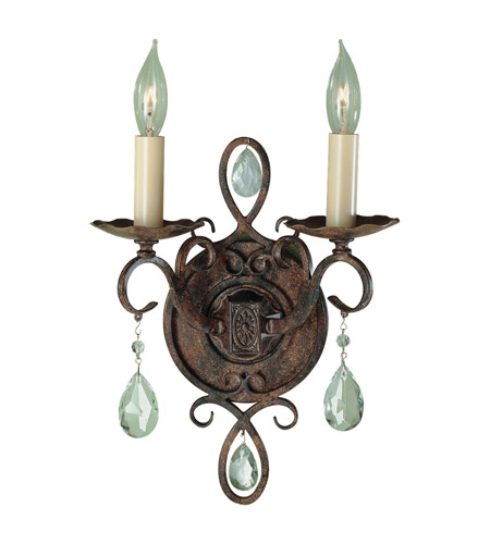 Feiss WB1227MBZ Chateau 2 Light 9 inch Mocha Bronze Wall Sconce Wall Light photo