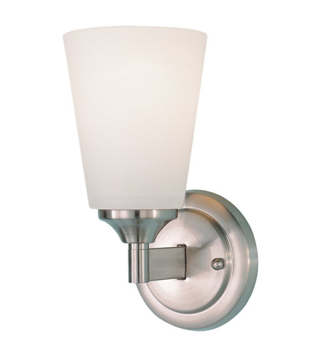 Feiss WB1249BS Gravity 1 Light 5 inch Brushed Steel Wall Sconce Wall Light photo