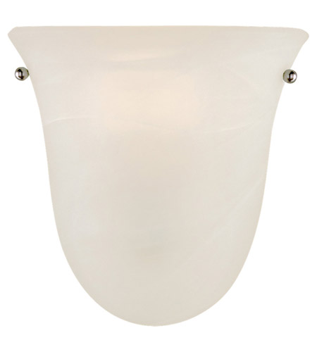 Feiss WB1270BS Vista 1 Light 8 inch Brushed Steel Wall Sconce Wall Light in White Alabaster Glass photo