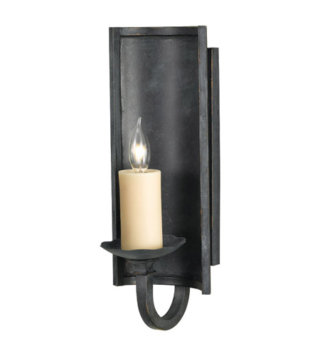 Feiss WB1350AF Kings Table 1 Light 7 inch Antique Forged Iron Wall Sconce Wall Light photo