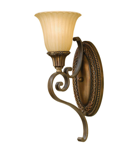 Feiss Kelham Hall 1 Light Wall Sconce in Firenze Gold and British Bronze WB1418FG/BRB photo