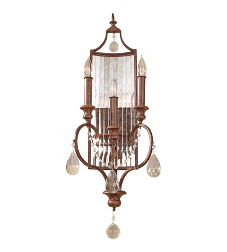Feiss WB1448MBZ Gianna Scuro 3 Light 11 inch Mocha Bronze Wall Sconce Wall Light photo