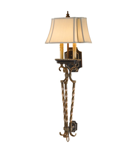 Feiss Castalia 2 Light Wall Torchiere in Silver Leaf Sienna WB1466SLS photo