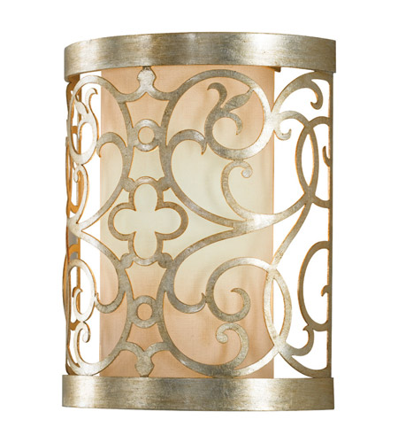 Feiss Arabesque 1 Light Wall Bracket in Silver Leaf Patina WB1485SLP photo