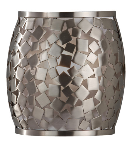 Murray Feiss Zara: Feiss WB1589BS Zara 1 Light 8 Inch Brushed Steel Wall
