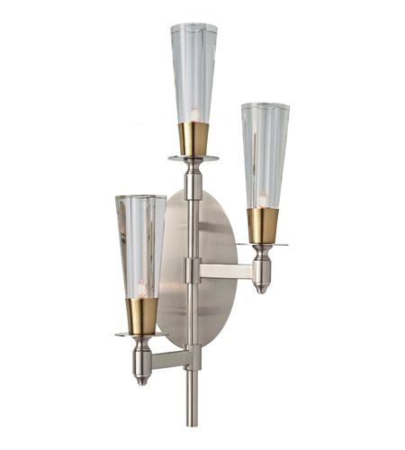 Feiss Celebration 3 Light Wall Sconce in Brushed Nickel and Natural Brass WB1607BN/NB photo