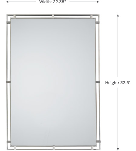 Feiss MR1089BS Parker Place 33 X 22 inch Brushed Steel Mirror Home Decor photo