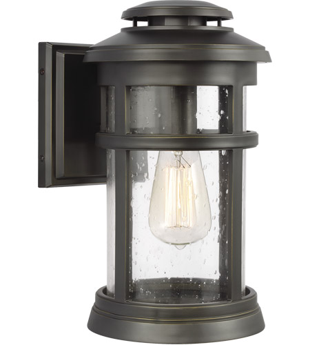 Feiss OL14301ANBZ Newport 13 inch Antique Bronze Outdoor Wall Lantern photo