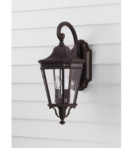 Feiss OL5401GBZ Cotswold Lane 2 Light 21 inch Grecian Bronze Outdoor Wall Sconce in Standard photo