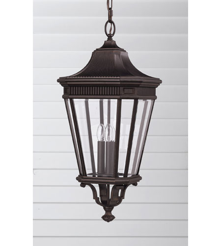 Feiss OL5412GBZ Cotswold Lane 3 Light 12 inch Grecian Bronze Outdoor Hanging Lantern alternative photo thumbnail
