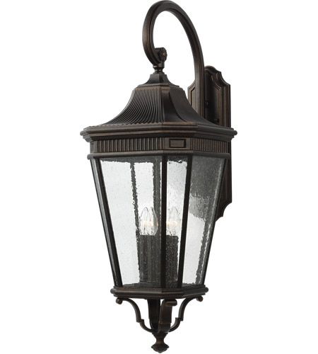 Feiss OL5426GBZ Cotswold Lane 36 inch Grecian Bronze Outdoor Wall Lantern in Clear Seedy Glass photo