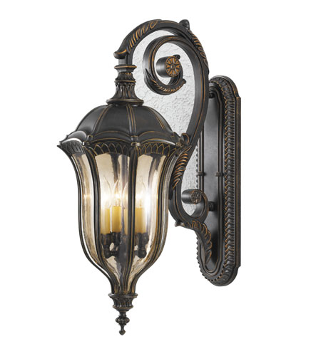 Feiss Baton Rouge 4 Light Outdoor Wall Sconce in Walnut OL6004WAL photo