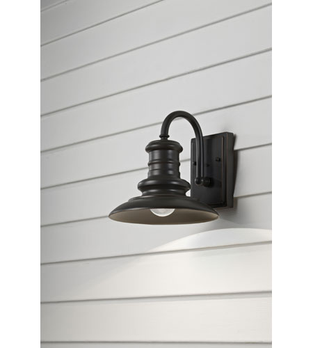 Feiss OL8600RSZ Redding Station 1 Light 10 inch Restoration Bronze Outdoor Wall Sconce in Standard photo