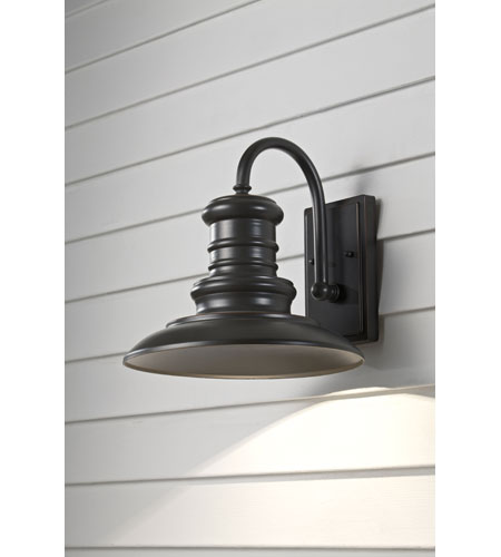 Feiss OL8601RSZ Redding Station 1 Light 13 inch Restoration Bronze Outdoor Wall Sconce photo