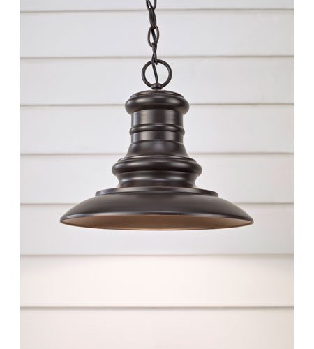 Feiss OL8904RSZ Redding Station 1 Light 12 inch Restoration Bronze Outdoor Hanging Lantern alternative photo thumbnail