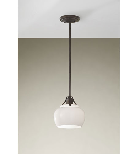 Feiss Urban Renewal 1 Light Mini Pendant in Rustic Iron P1235RI photo