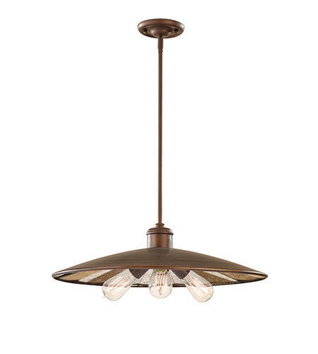 Feiss P1281ASTB Urban Renewal 3 Light 22 inch Astral Bronze Pendant Ceiling Light photo