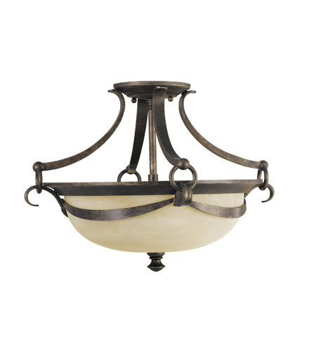 Murray Feiss Segovia 2 Light Semi-Flush Mount in Peruvian Bronze SF218PBR