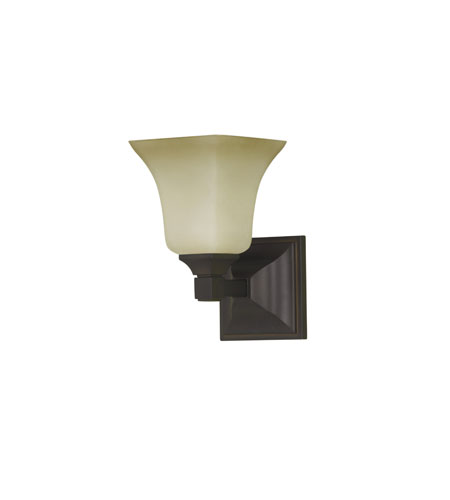 Feiss American Foursquare 1 Light Vanity Strip in Oil Rubbed Bronze VS12401-ORB photo