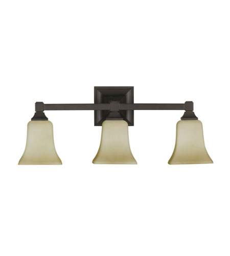 Feiss American Foursquare 3 Light Vanity Strip in Oil Rubbed Bronze VS12403-ORB photo