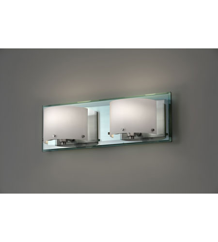 Feiss Khola 2 Light Vanity Strip in Brushed Steel VS19302-BS photo