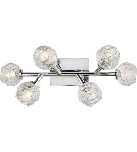 Feiss VS24336CH-L1 Arielle 23 inch Chrome Wall Bath Fixture Wall Light in 6 photo