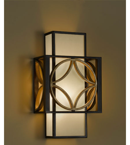 Feiss Remy 1 Light Wall Bracket in Heritage Bronze and Parissiene Gold WB1446HTBZ/PGD photo