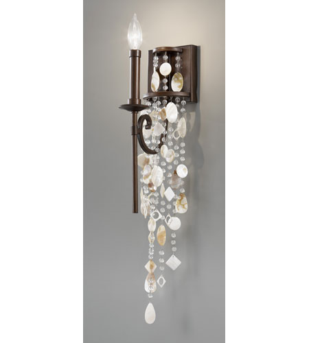 Feiss Cascade 1 Light Wall Sconce in Heritage Bronze WB1570HTBZ photo