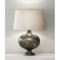 Feiss Orion 1 Light Table Lamp in Weathered Black 10011WBK