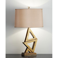 Feiss Xenia 1 Light Table Lamp in Firenze Gold 10018FG